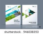 business vector. brochure... | Shutterstock .eps vector #546038353