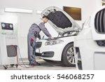 full length of male engineer... | Shutterstock . vector #546068257