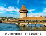 Famous Chapel Bridge In Lucern...
