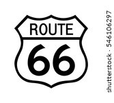 route 66 sign .filled with white | Shutterstock .eps vector #546106297