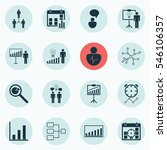 set of 16 board icons. includes ... | Shutterstock .eps vector #546106357