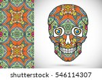 day of the dead colorful sugar...   Shutterstock .eps vector #546114307