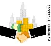 handshake business deal | Shutterstock .eps vector #546123013