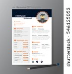 clean modern design template of ... | Shutterstock .eps vector #546125053