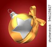 3d illustration of golden... | Shutterstock . vector #546125827