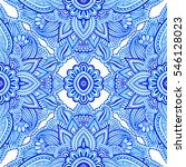 seamless pattern with abstract... | Shutterstock . vector #546128023