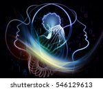 profiles of technology series.... | Shutterstock . vector #546129613