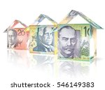 money bills folded like houses... | Shutterstock . vector #546149383