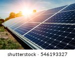 solar panel  photovoltaic ... | Shutterstock . vector #546193327