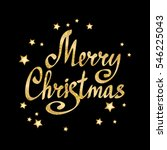 merry christmas calligraphic... | Shutterstock . vector #546225043