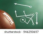 scheme of american football... | Shutterstock . vector #546250657