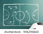 scheme of football game and... | Shutterstock . vector #546250663