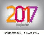 happy new year 2017  vector   Shutterstock .eps vector #546251917