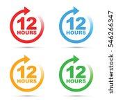 twelve hour icon set | Shutterstock .eps vector #546266347