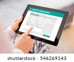 health insurance application on ... | Shutterstock . vector #546269143