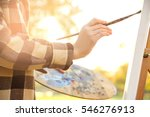 close up view of female artist... | Shutterstock . vector #546276913