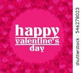 heart for valentine's day... | Shutterstock .eps vector #546278023