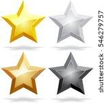 set of golden  silver  bronze ... | Shutterstock .eps vector #546279757
