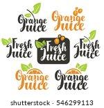 set vectors logo on fresh... | Shutterstock .eps vector #546299113