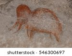drawing of the ancient... | Shutterstock . vector #546300697