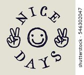 nice days smiley face drawing... | Shutterstock .eps vector #546302047