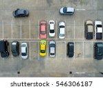 empty parking lots  aerial view. | Shutterstock . vector #546306187