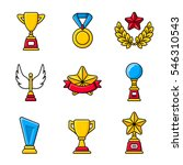 gold cups  trophy  awards and... | Shutterstock .eps vector #546310543
