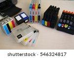 inkjet printer close up on ink... | Shutterstock . vector #546324817