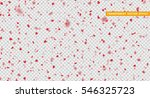 hearts red petals falling. ... | Shutterstock .eps vector #546325723