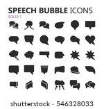 simple modern set of speech... | Shutterstock .eps vector #546328033