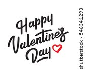 happy valentines day. lettering. | Shutterstock .eps vector #546341293