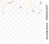 colorful confetti falling on... | Shutterstock .eps vector #546341347