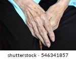 elderly caucasian women hands... | Shutterstock . vector #546341857
