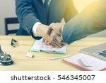 great job sealing a deal... | Shutterstock . vector #546345007