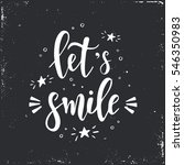 let's smile. hand drawn... | Shutterstock .eps vector #546350983