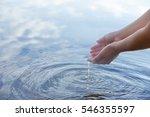 water and hands | Shutterstock . vector #546355597