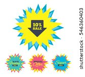 sale stickers and banners. 10 ... | Shutterstock .eps vector #546360403