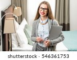 portrait of a happy business... | Shutterstock . vector #546361753