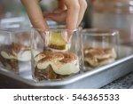 uncooked tiramisu cake homemade   Shutterstock . vector #546365533