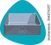 roast pan. deep rectangular pan ... | Shutterstock .eps vector #546374257