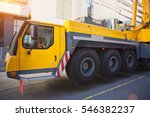 mobile crane at work at... | Shutterstock . vector #546382237