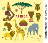 colorful africa elements and...   Shutterstock . vector #546391243