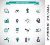 business solutions   vector... | Shutterstock .eps vector #546400663