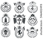 vintage decorative emblems... | Shutterstock . vector #546402493