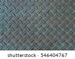 Small photo of Weathered treadplate background with blue-green patina