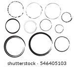 vector set of circle | Shutterstock .eps vector #546405103