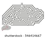 vector maze with answer 23 | Shutterstock .eps vector #546414667