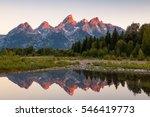sunrise at schwabacher landing  ... | Shutterstock . vector #546419773