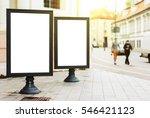 two blank advertising... | Shutterstock . vector #546421123