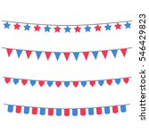 party flags collection. vector... | Shutterstock .eps vector #546429823